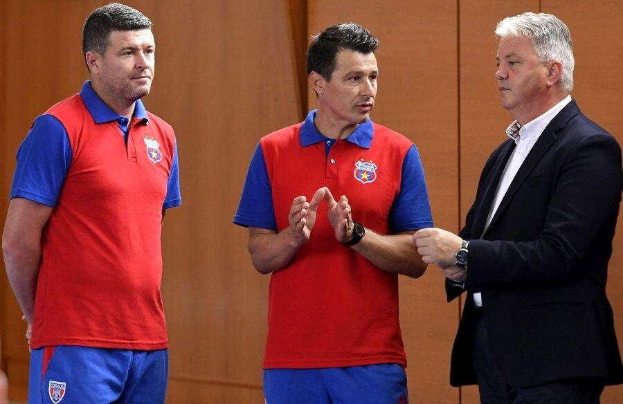 Oprița și Miu (alături de Mocanu) au fost campioni cu Steaua ca jucători, acum au nimerit într-un club nou, conectat la bugetul statului și măcinat de conflicte interne