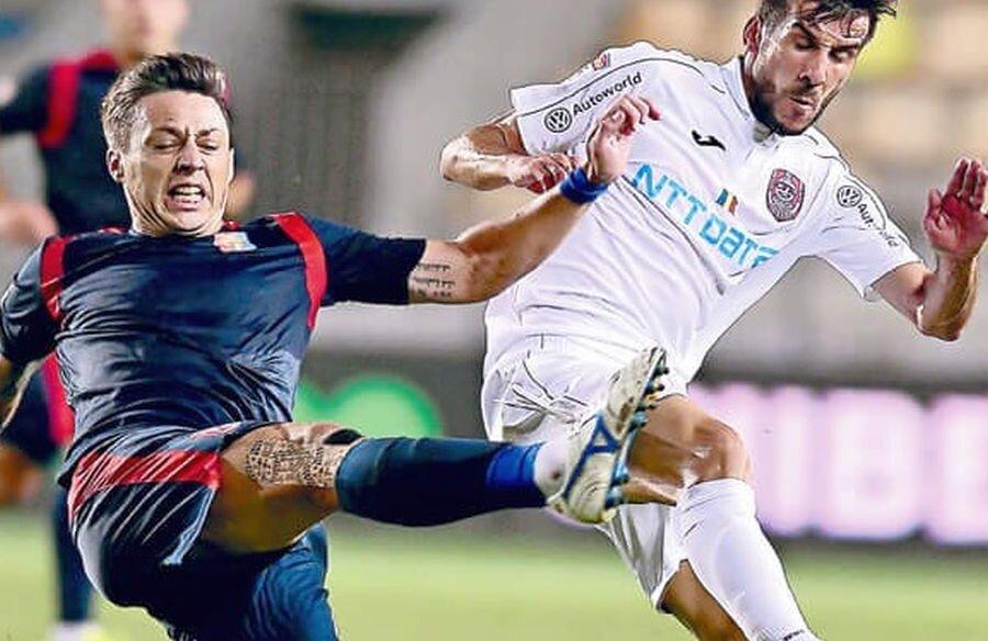 Luis Aurelio, mijlocașul CFR-ului, în meciul contra Chindiei Târgoviște // foto: sportpictures.eu