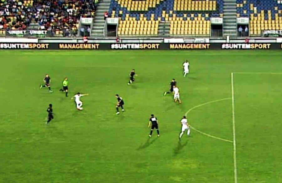 CFR Cluj a înscris golul trei din ofsaid // Captură TV Telekom Sport