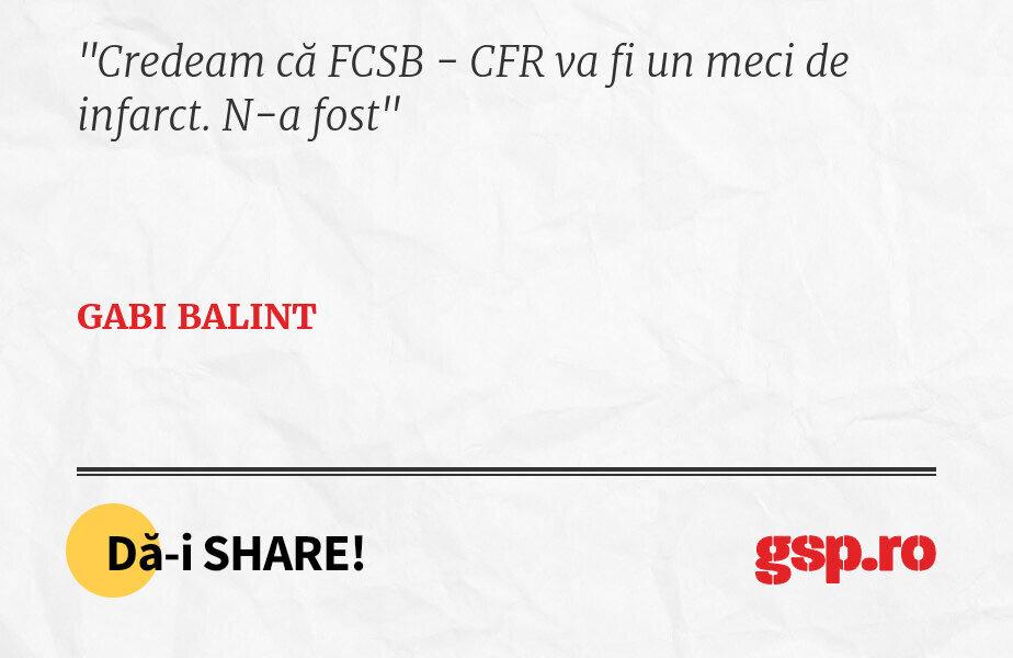 Credeam că FCSB - CFR va fi un meci de infarct. N-a fost