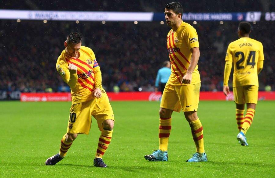 MESSI ȘI RESTUL LUMII. Barcelona a câștigat derby-ul cu Atletico Madrid grație clasei lui Lionel Messi, autorul singurului gol al partidei. Cu această reușită, argentinianul a marcat pe toate cele 20 de stadioane din actuala ediție de LaLiga (foto: Guliver/Getty Images)